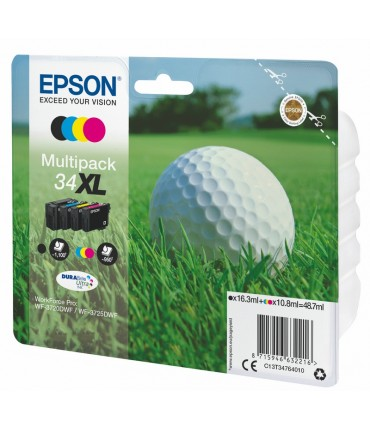 "Multipack 34XL ""Golf"" WF 3720 3725 4 couleurs"