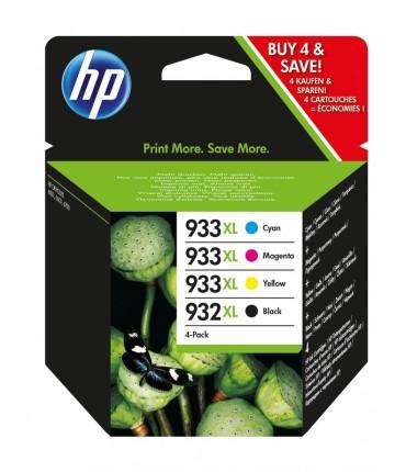 Pack 932X -933XL 4 clr Officejet 6100 6600 H711a 6700 7110 7510 7612