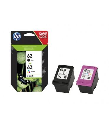 Pack de 2 cartouches 62 OfficeJet 200 250 5740 Envy 5540 5547 N-CMY
