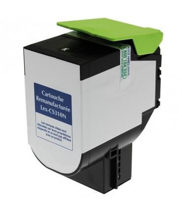 Toner compatible Lexmark CX310 CX410 CX510 noir