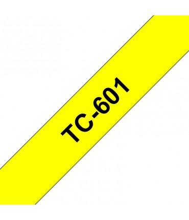 Ruban laminé PTouch 12 mm x 8 M jaune sur noir