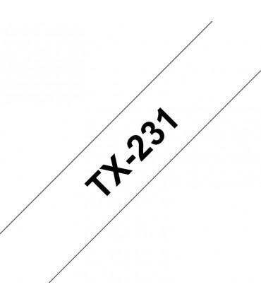 Ruban laminé 12 mm noir/blanc rouleau P-Touch PT-7000 PT-8000 PT-PC
