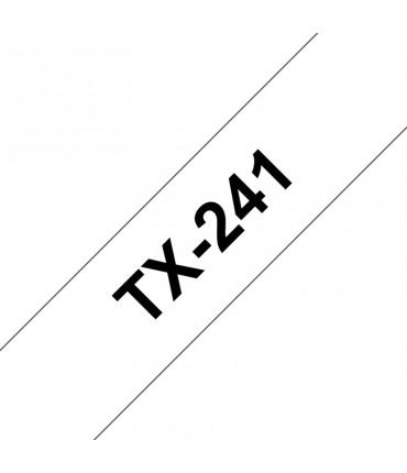 Ruban laminé 18 mm noir/blanc rouleau P-Touch PT-7000 PT-8000 PT-PC