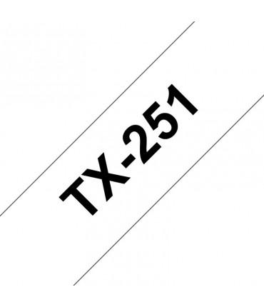 Ruban laminé 24 mm noir/blanc rouleau P-Touch PT-7000 PT-8000 PT-PC