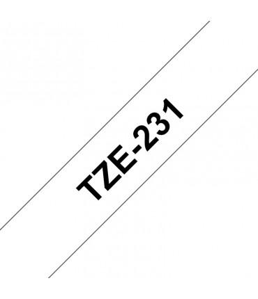 Ruban Ptouch TZE231 Ruban 12mm Noir / Blanc