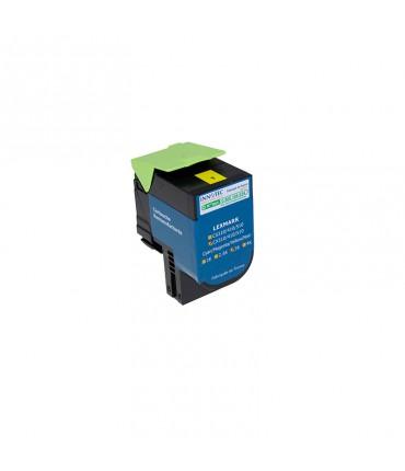 Toner compatible Lexmark CX410 CX510 yellow grande capacité