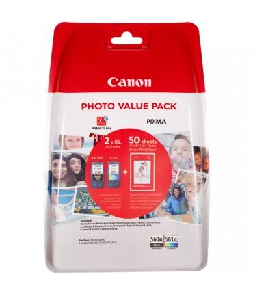 Pack PG-560XL CL-561XL TS 5350 5351 5352 5353 7450 7451 + papier phot